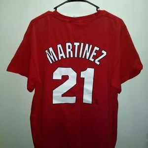 Majestic Shirts - ST LOUIS CARDINALS JERSEY TEE - TINO MARTINEZ #21